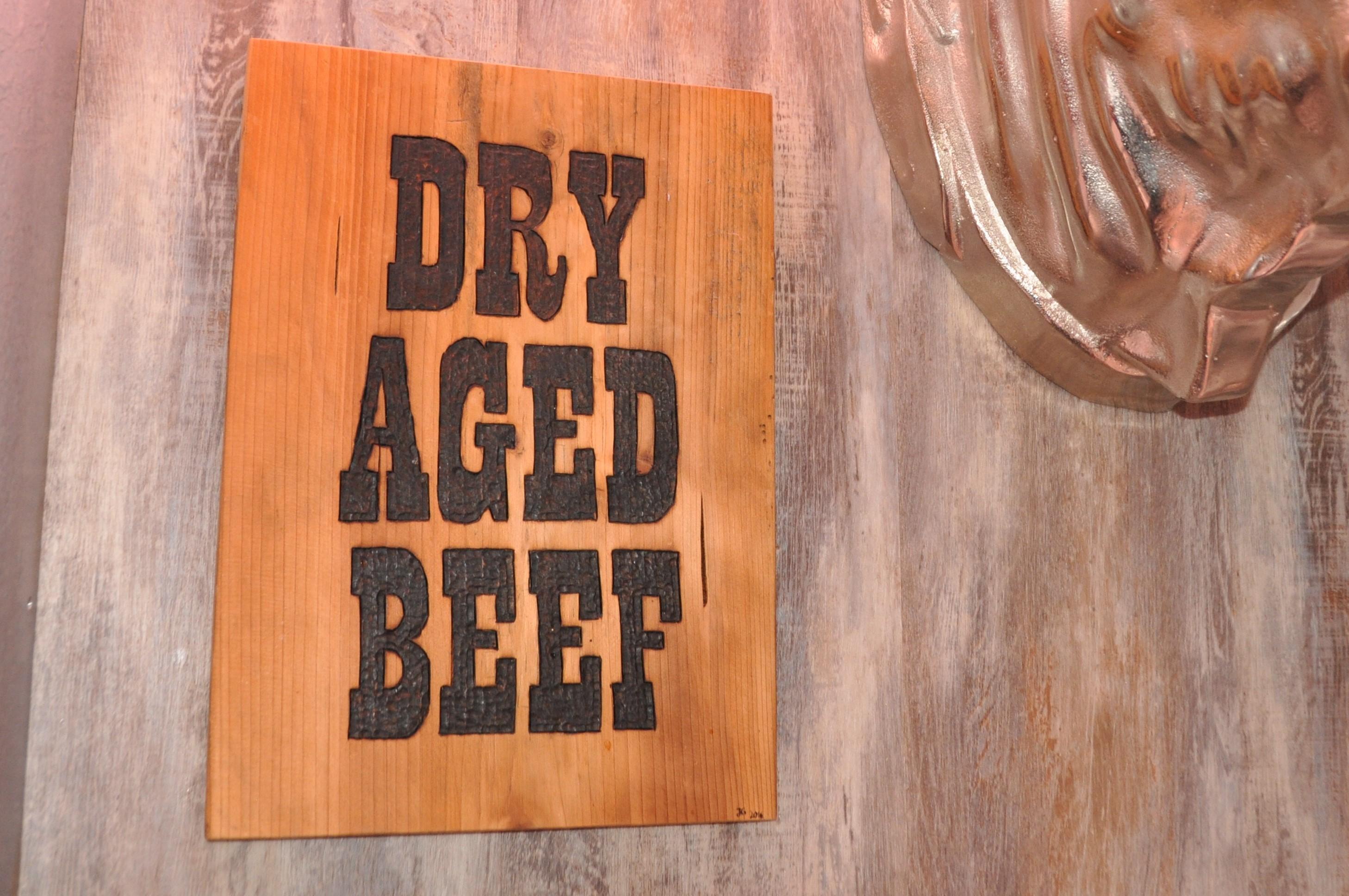 Schild Dry aged beef